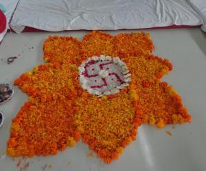 freehand diwali Rangoli