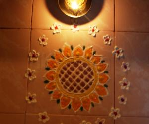 Rangoli: Sunflower kolam