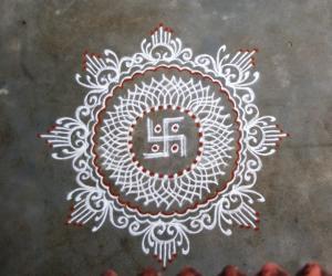 Vinayaka Chathurthi kolam