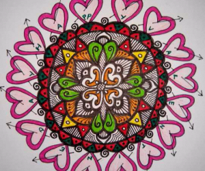 Rangoli: happy valenvalentine's day to all