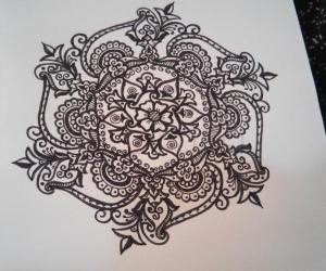 Rangoli: free hand drawing