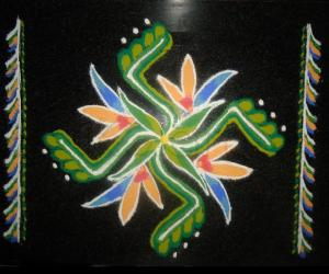 Rangoli: Birds of Paradise