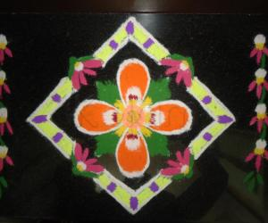 Rangoli: Dotted Bloom