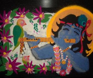 Rangoli: Gokulashtami Wishes