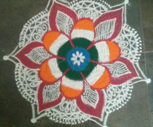 Rangoli: Republic day rangoli