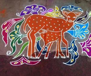 Rangoli: Deer Rangoli