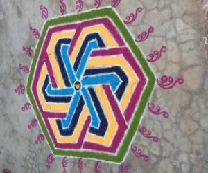 Rangoli: Margarita kolam of this day