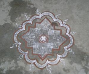 Rangoli: Karthikai kolam2