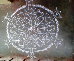 Rangoli: pulli kolam