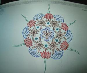 Rangoli: colour pencil rangoli