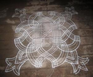 Rangoli: simple design kanya kolam