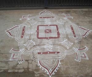 Traditional kanya kolam