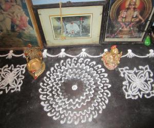 Rangoli: vinayaga chathurthi kolam