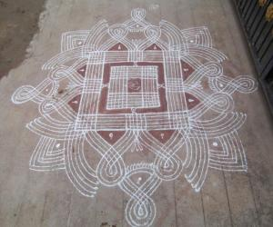 Rangoli: simple design rangoli