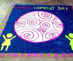 Rangoli: Women's day rangoli