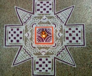 Aadi 1st Sevvai kolam-Avvayaar nonbu kolam