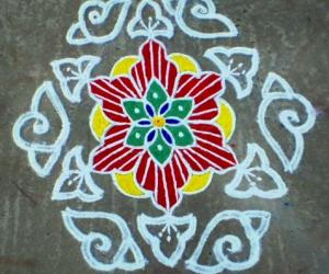 Margazhi  kolam on road-8