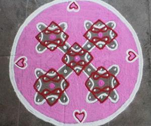 Valentine day spl rangoli-4
