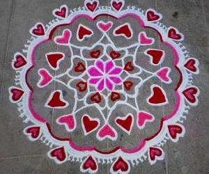 Valentine day spl rangoli-3
