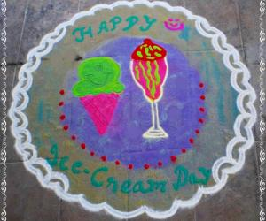 Ice-cream rangoli