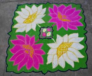 Garden rangoli entry-1-water lily