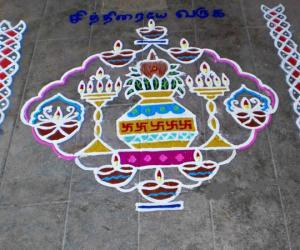 Rangoli: Tamil new year spl kolam-1