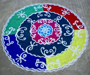Rangoli: Tamil new year spl kolam-2