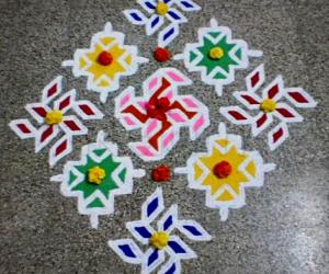 Rangoli: Happy birthday spl kolam