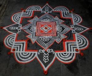 Rangoli: Navrathri day-6