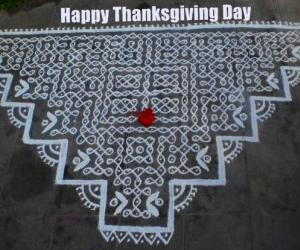 Rangoli: Thanks giving day spl kolam