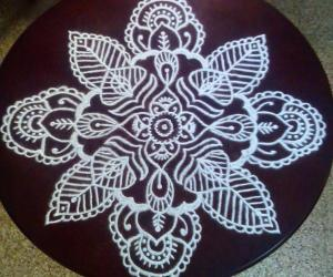 Rangoli: Happy birthday kolam