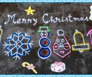 Rangoli: Christmas spl kolam