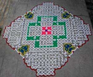 Rangoli: Contest trial kolam-1