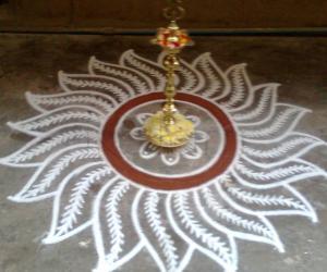 Rangoli: Dhanur Masam Rangoli