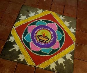 Happy Diwali ... this is a free hand rangoli