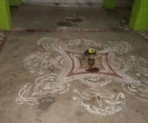 Rangoli: ThiruAavadiPooram i Kolam