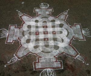 Navarathri 2012 Day 2 -Padi kolam