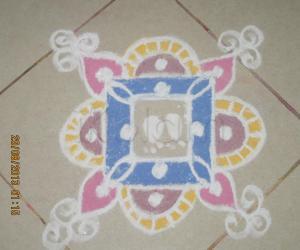 Rangoli: Sri Krishna Jeyanthi Kolam