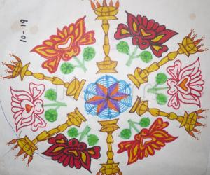 Dotted Margazhi rangoli