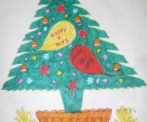 Rangoli: Christmas season Rangoli