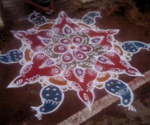 Rangoli: colours