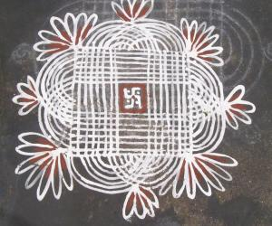 Rangoli: Sunday small kanya kolam