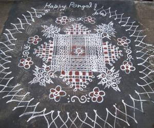 Rangoli: Maa Kolam Pongal Kolam
