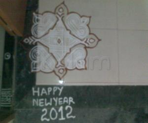 2012 new year kolam