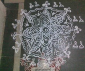 Rangoli: Janmashtami Padi Kolam