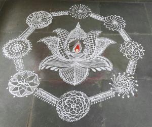 Rangoli: Deepavali