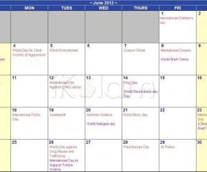 Rangoli: June 2012 Calendar