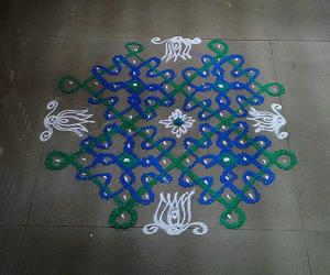 Rangoli: simple sikku