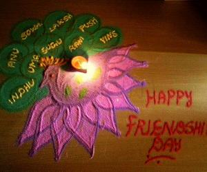 Rangoli: happy friendship day