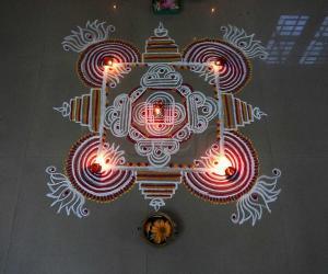 Rangoli: varalakshmi pujakolam